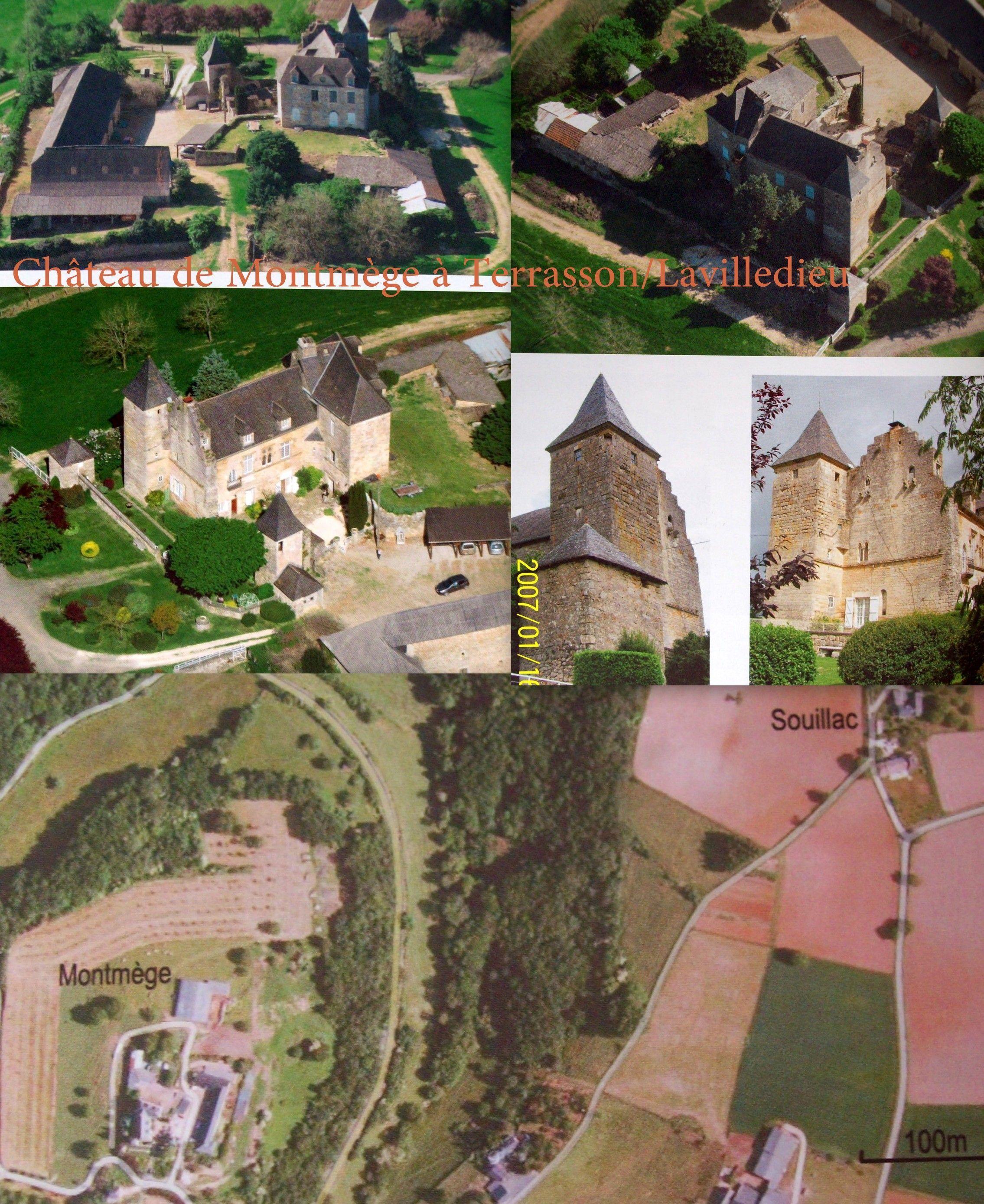 Château De Montmege Commune De Terrasson Lavilledieu